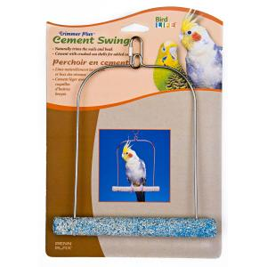 Penn Plax Cement Bird Swing - With Wire Frame 7in