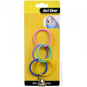 Avi One  Bird Toy Olympic Ring With Bell