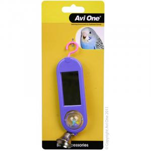 Avi One  Bird Toy Double Sided Mirror With Bell
