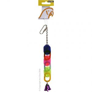 Avi One  Bird Toy Acrylic 3 Chain With Bell