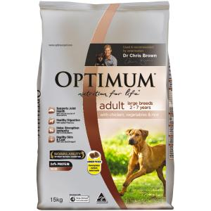 Optimum  Adult Large Breed Chicken 15kg