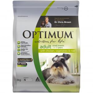 Optimum Adult Small Breed - Chicken Vegetables And Rice - Dry Dog Food 15kg