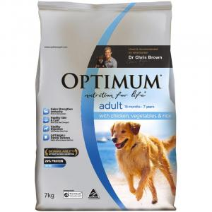 Optimum Adult Chicken Rice And Vegetables - Dry Dog Food 3kg