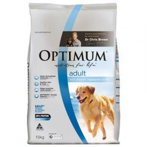 Optimum Adult Chicken Rice And Vegetables - Dry Dog Food 15kg