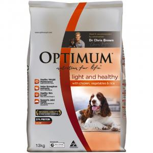 Optimum  Adult Dog Lite & Healthy With Chicken, Vegetable & Rice - 13kg