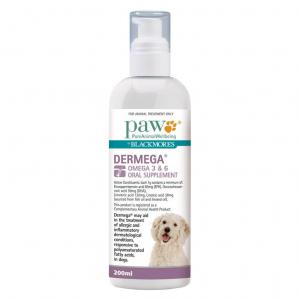 Paw  Dermega Omega 3 & 6 Oral Supplement - 200ml