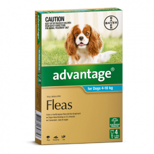 Advantage Flea Treatment For Dogs 4kg - 10kg 4 pack