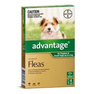 Advantage Flea Treatment For Dogs <4kg 4 pack