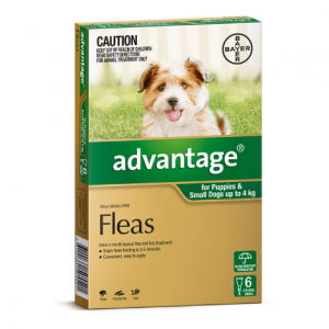 Advantage Flea Treatment For Dogs <4kg 6 pack
