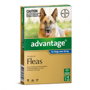 Advantage Flea Treatment For Dogs 25kg+ 4 pack