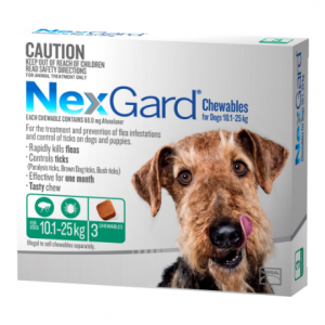 Nexgard Flea & Tick Treatment 10.1-25kg Dog