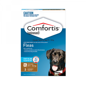 Comfortis  Brown - For Dogs 27.1-54kg 3 pack