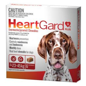 Heartgard  Plus - Worming Treatment For Large Dogs 23kg - 45kg 6 pack