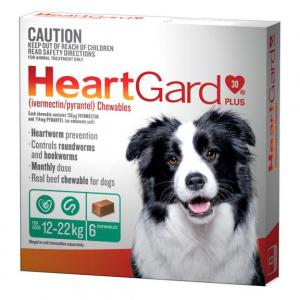 Heartgard  Plus - Worming Treatment For Medium Dogs 12kg - 22kg 6 pack