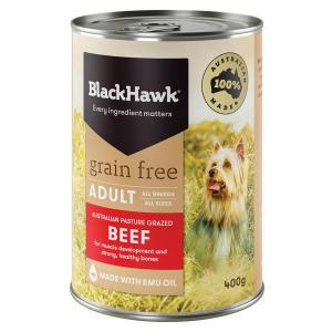 Black Hawk  Wet Dog Food - Grain Free Beef 400g