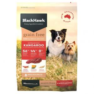 Black Hawk  Grain Free Kangaroo Dry Dog Food 15kg