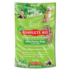 Vets All Natural Complete Mix For Adult And Senior Dogs 15kg