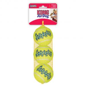 KONG Airdog Squeaker Balls - Dog Fetch Toy - 3 Pack Medium