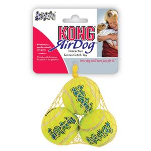 KONG Airdog Squeaker Balls - Dog Fetch Toy - 3 Pack Small