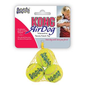 KONG Airdog Squeaker Balls - Dog Fetch Toy - 3 Pack X Small