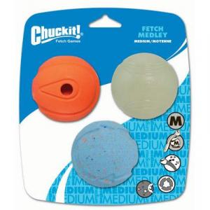 Chuckit  Fetch Medley Medium 3pk