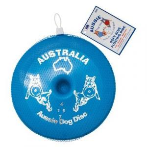 Aussie Dog  Floppy Disc - Blue