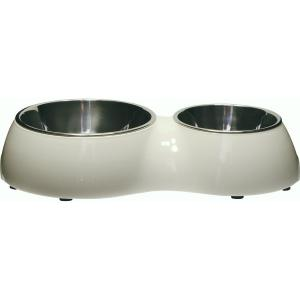 Catit  2 In 1 Dura Double Cat Bowl 160ml/350ml
