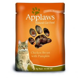 Applaws  Cat Chicken & Pumpkin Pouch - 70gm