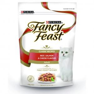 Fancy Feast  Adult Beef, Salmon And Cheese Dry Cat Food - 450gm