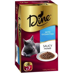 Dine Daily Variety - Saucy Morsels With Ocean Fish - Cat Food Tray 7X85GM