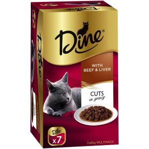 Dine Daily Variety - Beef And Liver Cuts In Gravy - Cat Food Tray 7X85GM