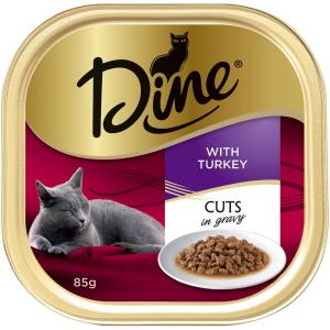 Dine Daily Variety - Turkey Cuts In Gravy - Cat Food Tray 1X85GM
