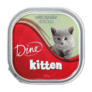 Dine  Kitten Tender Chicken - 85gm
