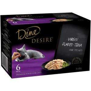 Dine Desire - Virgin Flaked Tuna - Canned Cat Food 6X85GM