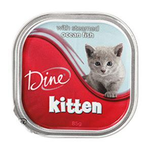 Dine  Kitten With Steamed Ocean Fish - 85gm