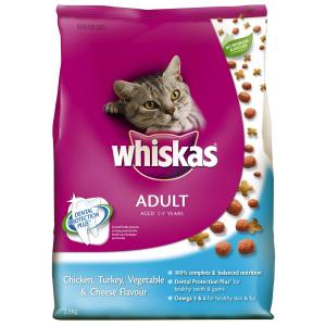 Whiskas  Cat Vita-bites Chicken, Turkey, Vegetable And Cheese - 2.5kg