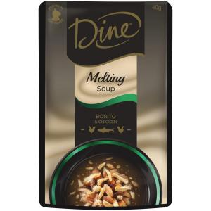 Dine  Melting Soup Bonito & Chicken - 40gm