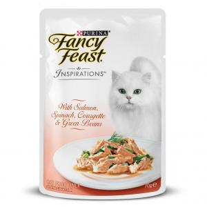 Fancy Feast Ff Inspirations Salmon Spin Beans 70g