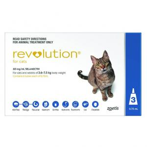Revolution Flea And Worming Treatment For Cats 3 pack