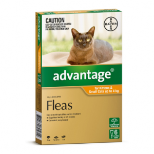 Advantage Flea Treatment For Cats <4kg 6 pack