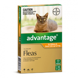 Advantage Flea Treatment For Cats <4kg 4 pack