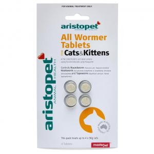 Aristopet All Wormer Treatment For Cats 4 pack