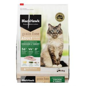 Black Hawk  Dry Cat Food - Grain Free Chicken & Turkey 6kg