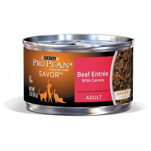 Pro Plan  Adult Beef Entree With Carrots Cat Food 85gm