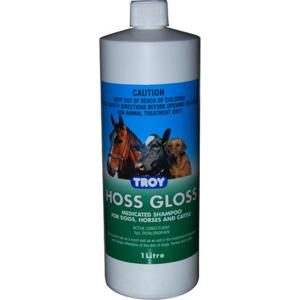 Troy Hoss Gloss - Medicated Shampoo For Horses 1L