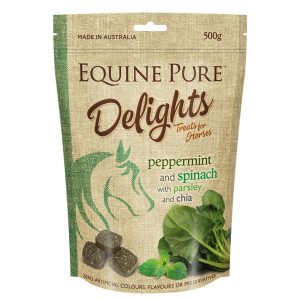 EQUINE PURE  Delights - Peppermint & Spinach 500gm