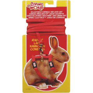 Living World  Dwarf Rabbit Harness And Lead Set Red