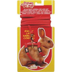 Living World  Rabbit Harness And Lead Set - Red