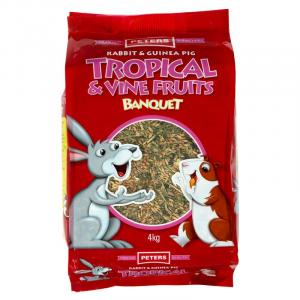 Peters Tropical & Vine Fruit Medley - Rabbit And Guinea Pig Food Mix 4kg