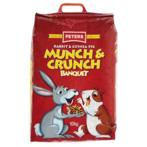 Peters Munch & Crunch - Rabbit And Guinea Pig Food Mix 10kg